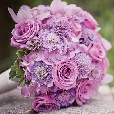 Kết quả hình ảnh cho hoa cưới hoa hồng tím