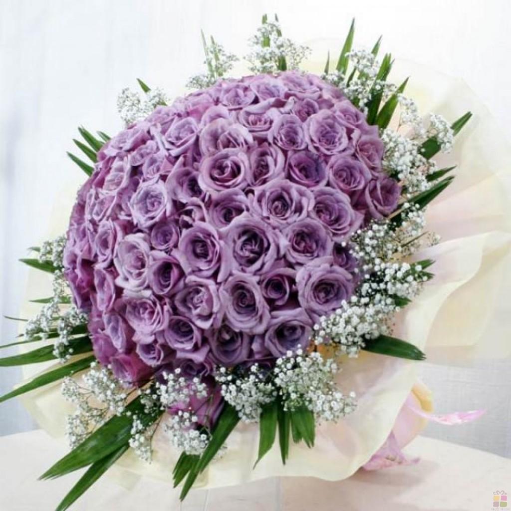 Hãy dành tặng cho người mình yêu một bó hồng tím tuyệt vời vào ngày sinh