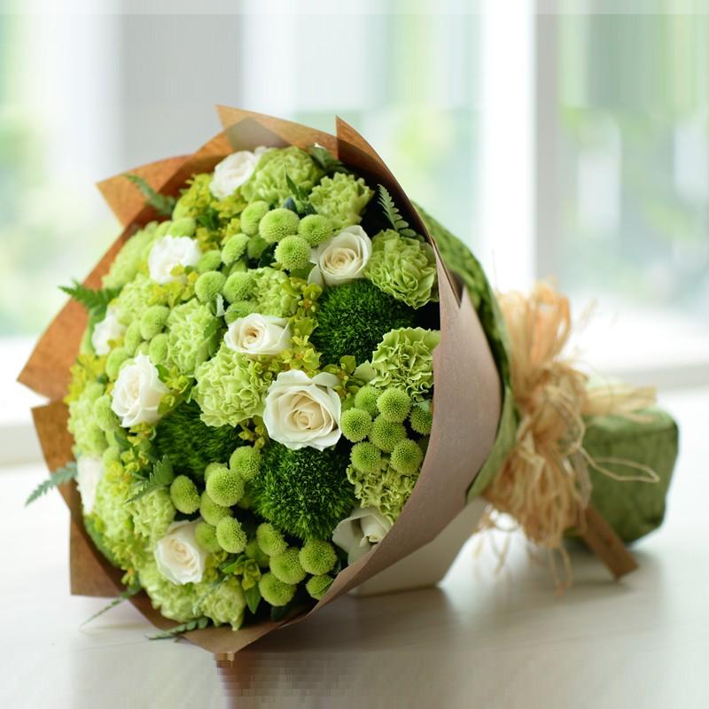 Kết quả hình ảnh cho bó hoa hồng xanh lá cây