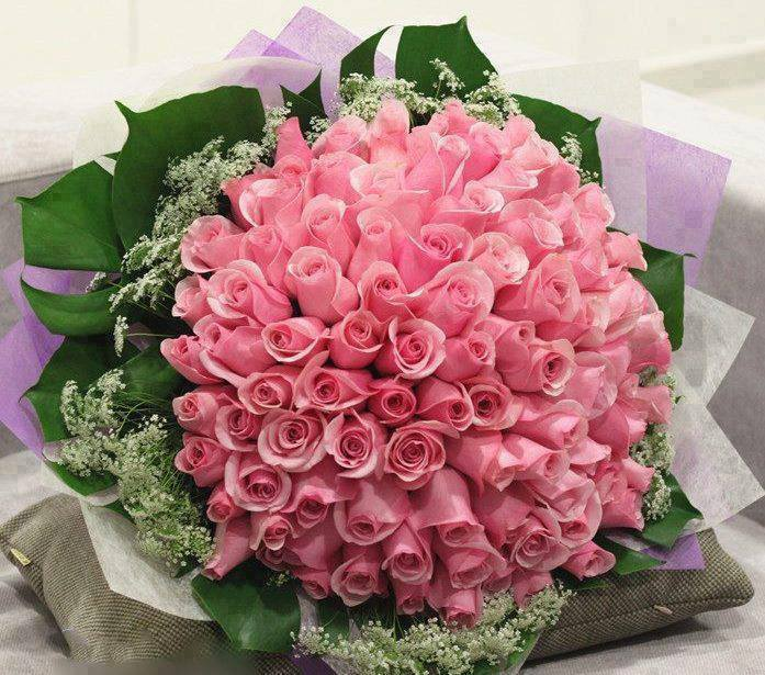 Bó hoa sinh nhật màu hồng