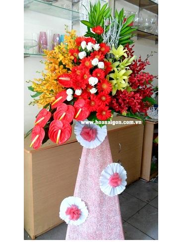 Làm sao để có lẵng hoa tặng khai trương đẹp và sang trọng?