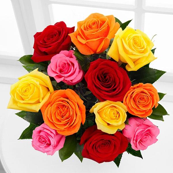 Nhắc đến các loại hoa sinh nhật ý nghĩa đầu tiên phải kể đến hoa hồng